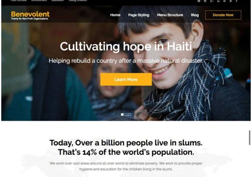 10 Free Charity WordPress Theme