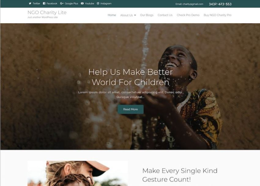 10 Free Charity WordPress Themes