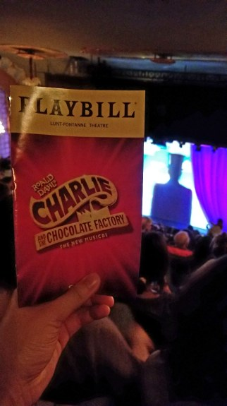 Willy wonka! I wasn't madly in love with the production but Christian Borle is always a joy to watch and the Charlie actor was good.