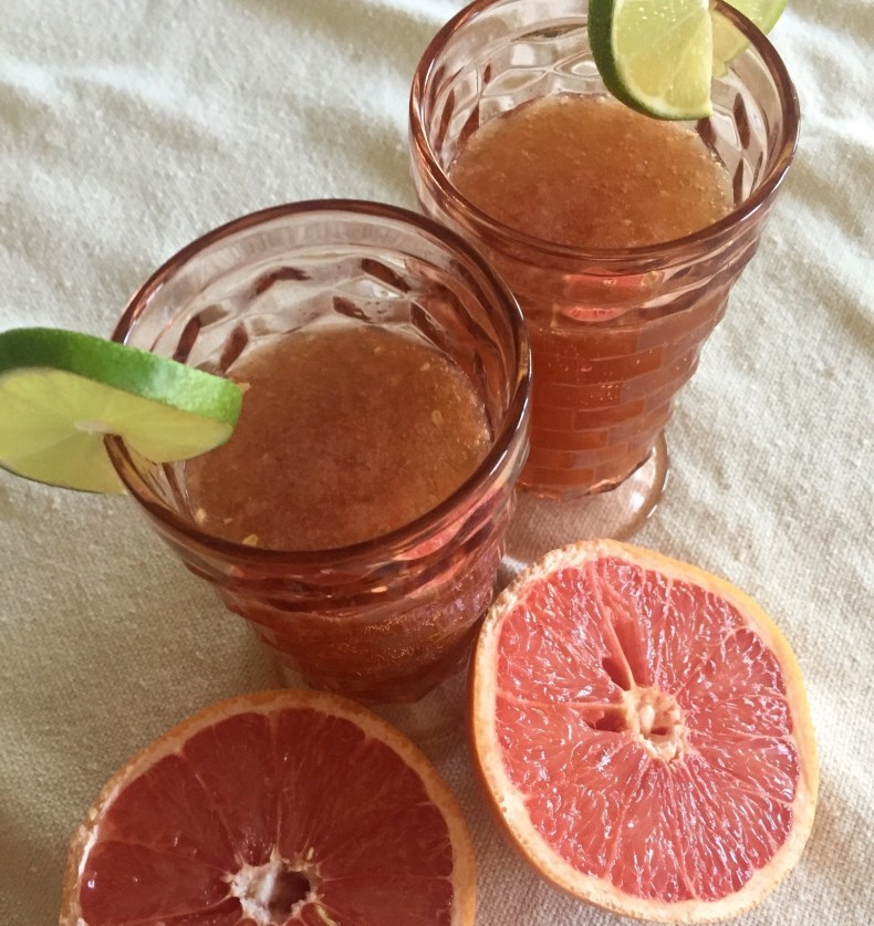 grapefruit cilantro spritz glasses