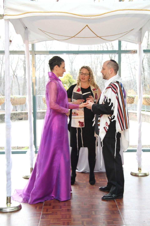 Jocelyn Roberts and Joey Sima,December 21, 2014. Marriage performed by Rabbi Lederman