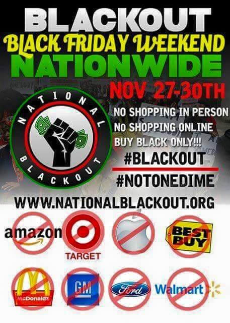 National Black Out 2015 - Boycott