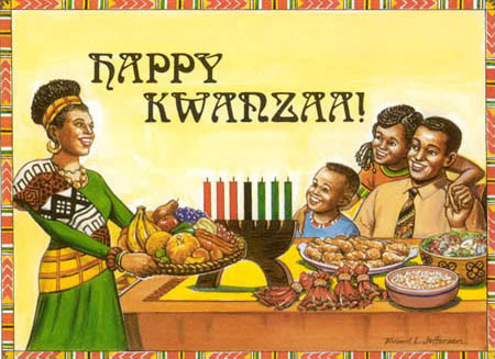 Happy kwanzaa Cartoon