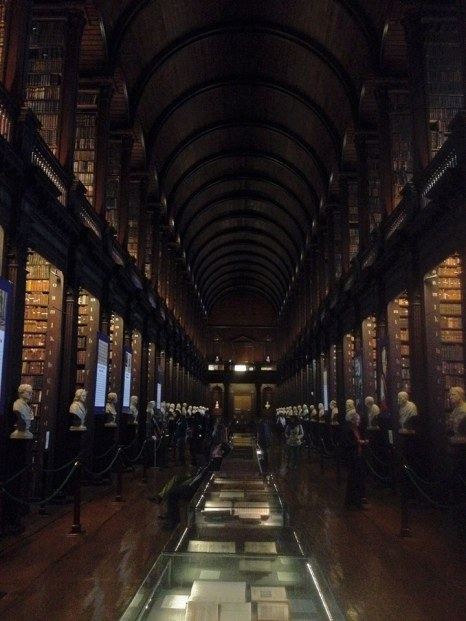Trinity College Library Dublin. We wanted to spend hours here!