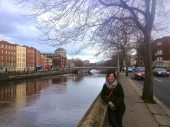 The beautiful River Liffey, each bridge that crosses the river is a little different!
