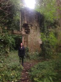 We found an abandoned stone building in the woods. It was pretty awesome!
