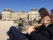 Reading in Luxembourg Gardens
