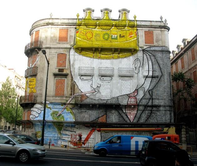 Collaboration with Blu, Lisbon, Portugal