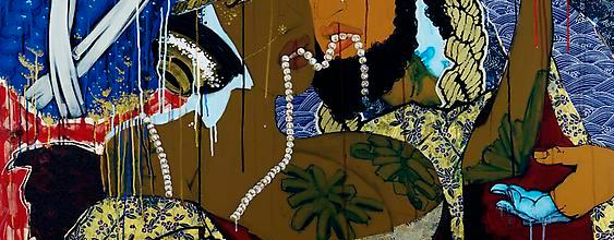 Iona Rozeal Brown's Afro-Japanese paintings