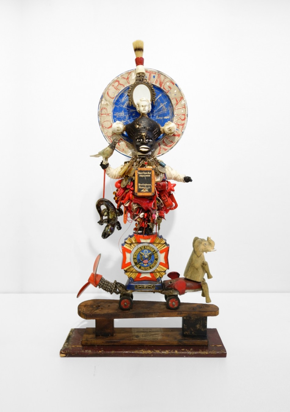 Vanessa German Stop Crying Already (Detail), 2012 Mixed-Media Assemblage 43 X 22 1/2 X 9 Inches. Photo courtesy of Pavel Zoubok Gallery and the artist