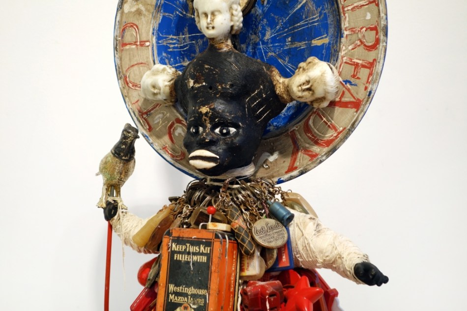 Vanessa German Stop Crying Already (Detail), 2012 Mixed-Media Assemblage 43 X 22 1/2 X 9 Inches
