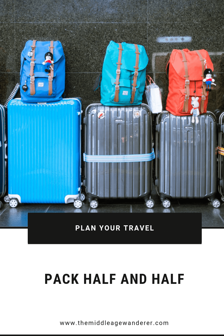 Pack using the Half and Half Rule.