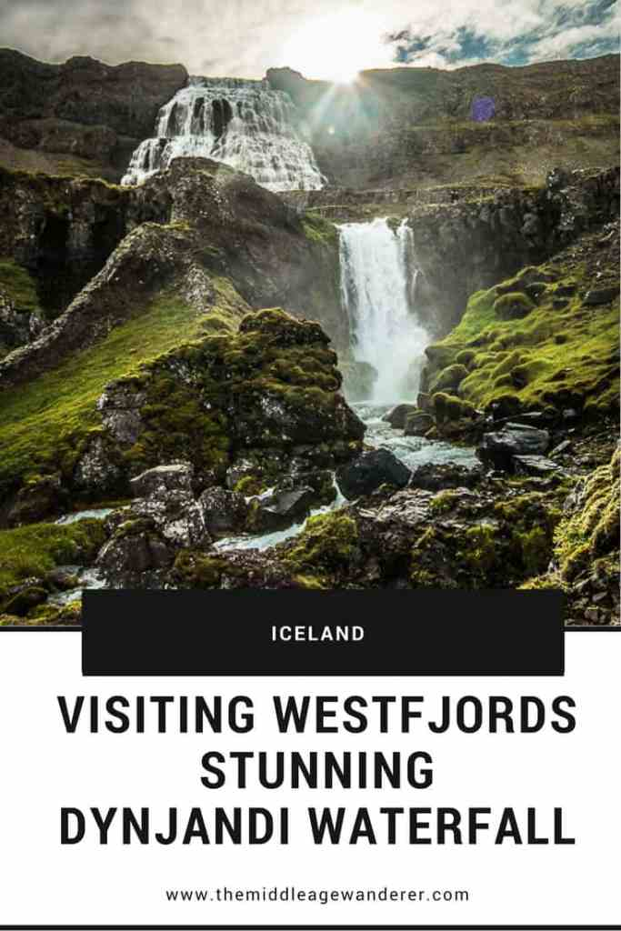 Visiting Westfjords Stunning Dynjandi Waterfall Iceland is famous for its stunning waterfalls. While you are likely to have heard of waterfalls such as Gullfoss, and Skogafoss, you cannot miss Dynjandi. #travel #Iceland #waterfall