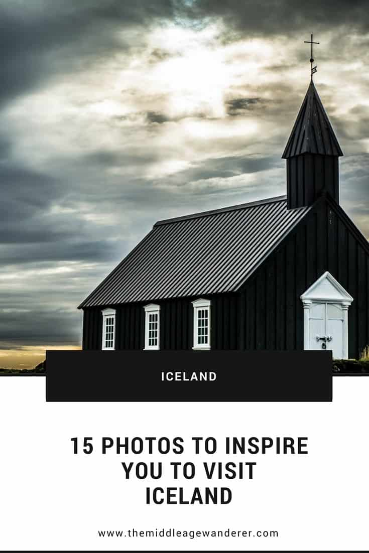 15 Photos to Inspire You to Visit Iceland  From its rugged coastline, to its stunning waterfalls, to its quaint churches, Iceland is an absolutely stunning country to visit.  #travel #Iceland #travelphotography