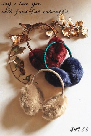 AnthropologieFauxFurEarmuffs