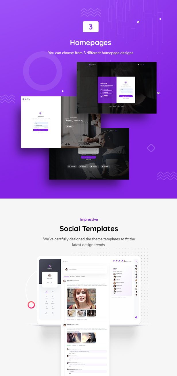 Beehive | Page Templates