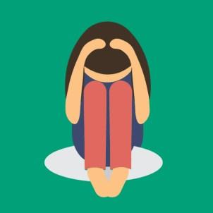 Woman feeling anxious clipart - AMALAwellness - Middlesbrough stockton teesside , yoga meditation and gentle exercise