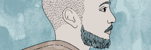 illustration of a man with a water in his head