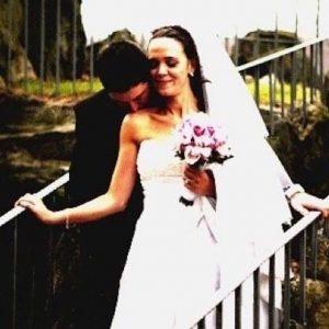marido y mujer en su día de la boda