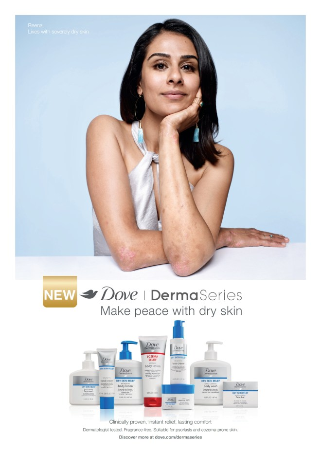 Reena from Dove DermaSeries campaign