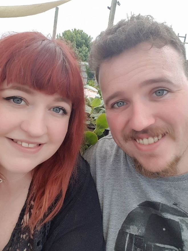 Alexandria with her partner Connor.
