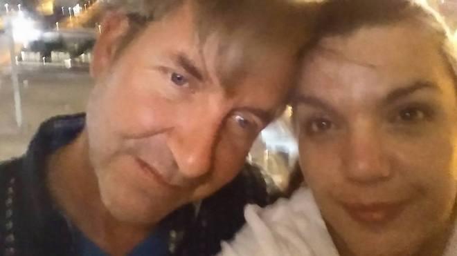 Lorna Elaine with her husband.