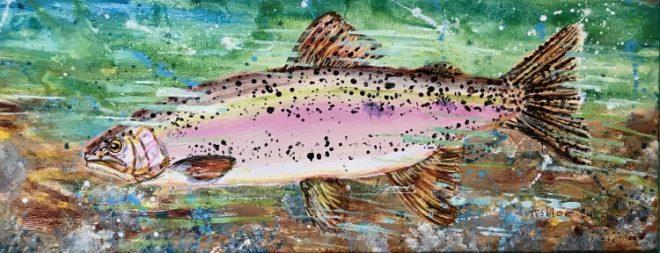 Painting of fish by Ashlee Birckhead
