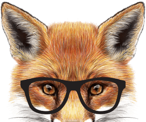 Image result for fox with glasses