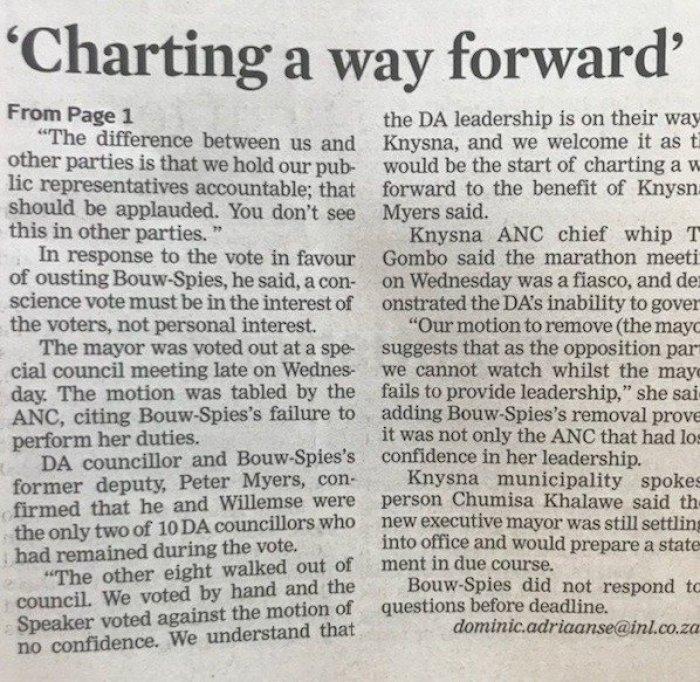 2018.06.08 Cape Times2 - Bonginkosi Madikizela lying