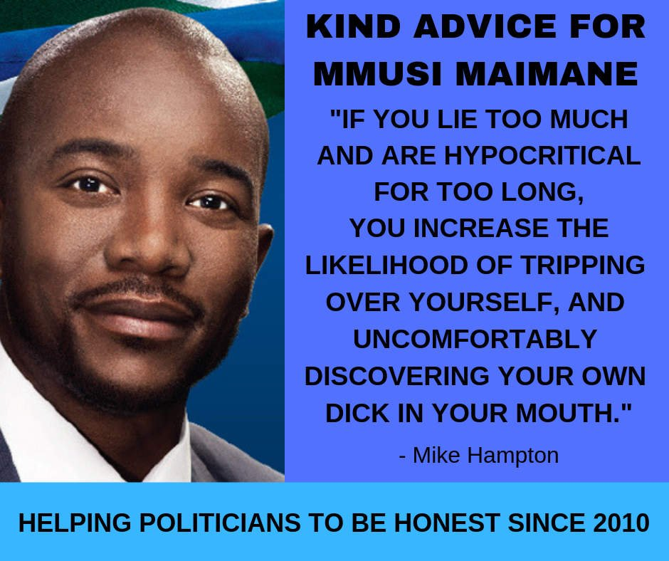 Political honesty - kind advice to Mmusi Maimane