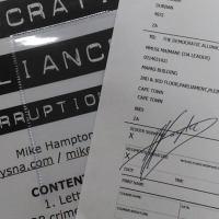 DA corruption package delivered Mmusi Maimane