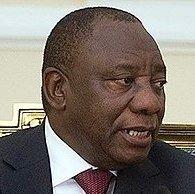 Presdient Cyril Ramaphosa-help Mike Hampton