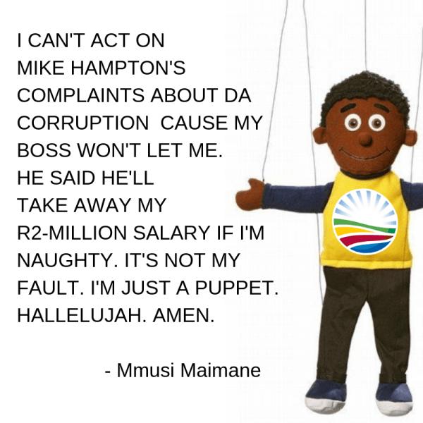 Mmusi Maimane - hypocritical puppet