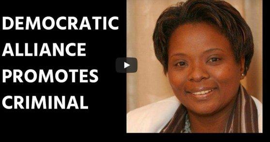 Democratic Alliance promotes criminal Eleanore Spies
