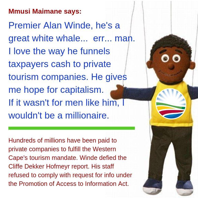 Mmusi Maimane says-Alan Winde is a white whale