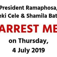 Arrest Mike Hampton 4 July 2019 Cyril Ramaphosa Bheki Cele Shamila Batohi