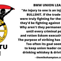 BMW UNION leaders cosatu con corruption