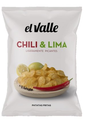 Chili and lime potato chips