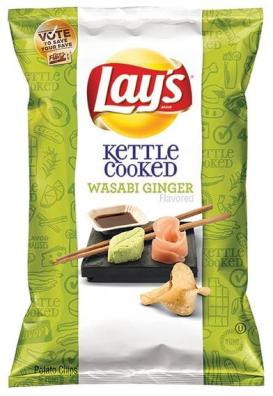 Lays wasabi ginger potato chips