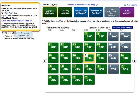 American Airlines AAdvantage award ticket, how to book aa economy award ticket