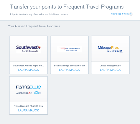 transfer chase ultimate rewards to partners