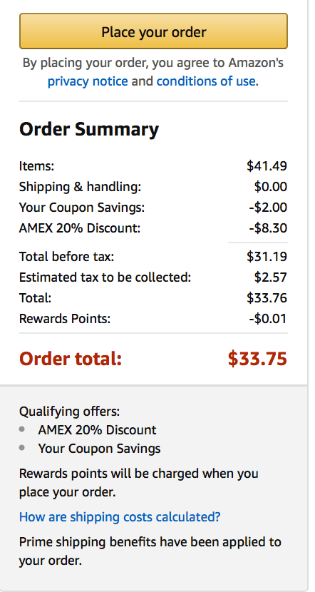 Amazon 20% off with Amex pay with points