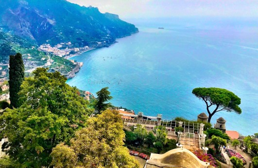View of the coastline from Ravello