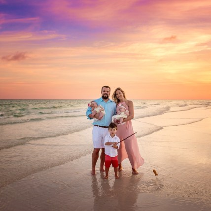 beach trip with twins