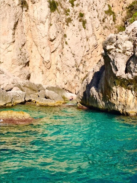 Capri cave and beach