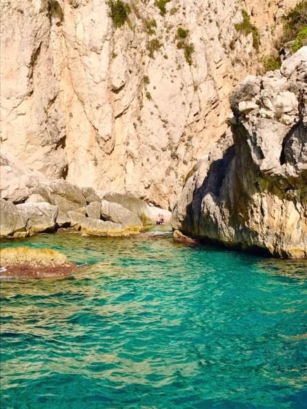 Capri cave and beach