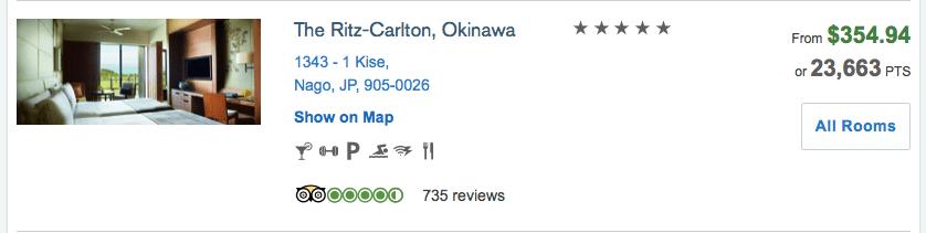 chase ultimate rewards booking portal Japan