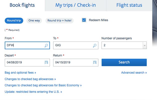 How to use amex points to book American Airlines flights