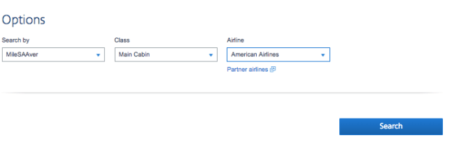 how to search for aa award seat availability