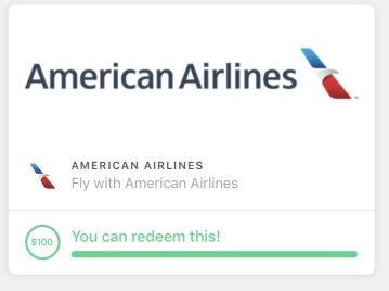 Redeem Drop app points for American Airlines gift cards